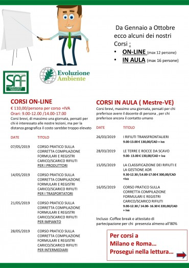 Calendario corsi preview